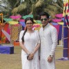 Drashti Dhami and Gunjan Uttreja at Colors Holi Party