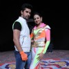 Ravi & Sargun during STAR PLUS' Holi Masti Gulal Ki