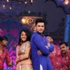Piyush Sahdev and Mahima Makwana during a performance on Zee TV Holi Mahotsav