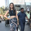 Sonam Kapoor was at the Promotions of Bewakoofiyaan at Cafe Coffee Day