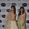 Ileana D'cruz with Anushree Reddy at Lakme Fashion Week Summer Resort 2014