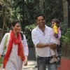 Anoop Soni with Juhi Babbar during Holi Celebrations