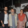 Shahid Kapoor with his parents at the Screening of Sri Lankan Film 'Inam'