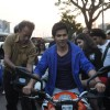 Varun Dhawan at the Bike rally to promote Main Tera Hero