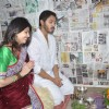 Shreyas and Deepti Talpade perform a pooja at the Opening of Affluence Movies Private Ltd. office