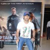 Amit Sadh sports a broken leg at the Screening of Captain America: The Winter Soldier