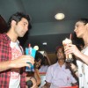 Varun & Ileana enjoy their favourite coolers at the promotions