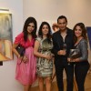 Marc Robionson and Perizaad Zorabian were at Nawaz Modi Singhania's art show