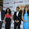 Arjun Kapoor, Alia Bhatt with Chetan Bhagat and his wife at New Cover launch of the book '2states'