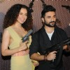 Kangana Ranaut and Vir Das pose with guns at Revolver Rani's Press Conference