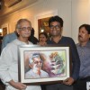 Gulzar at the Epic on Rock Shelters painting Exhibition
