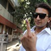 Ranveer Singh shows his inked finger