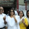Bollywood arrives to vote at polling stations in Mumbai
