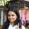 Tejaswini Kolhapure shows his inked finger