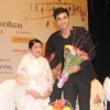 Lata Mangeshkar felicitates Ranbir Kapoor at the 72nd Master Deenanath Mangeshkar Awards