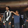 Arjan Bajwa felicitates a winner at the Grand finale of 'Mr India 2014'