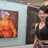 Urvashi Rautela at the inauguration of an art exhibition