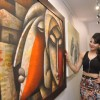 Urvashi Rautela inaugurates art exhibition
