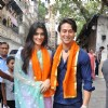 Tiger Shroff and Kriti Sanon visit Babulnath Temple