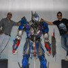 Raghu Ram and Rannvijay at the Unveiling of Transformers 4 lead robot Optimus Prime