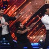 Maksim Chmerkovskiy, Akshat Singh and Remo D'Souza dancing on the sets of Jhalak Dhhikla Jaa