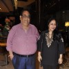 Satish Kaushik with wife at the Music Mania Event