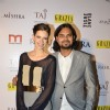 Kalki Koechlin poses with Rahul Mishra at his celebration