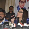 Rakhi Sawant addresses the crowd