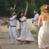 Vishal and Digangana shooting a dance sequence in Poland