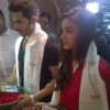Varun Dhawan and Alia Bhatt seek the blessings of Goddess Kaali in Kolkata
