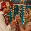 Jyoti and Pankaj garland ceremony