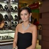 Model wearing the designer jewelry at the opening of Glamour Jewelery Exhibition