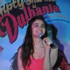 Alia addresses the crowd at the Promotions of Humpty Sharma Ki Dhulania at Rcity Mall