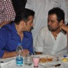 Salman Khan and Anees Bazmee at Baba Siddiqie's Iftar Party