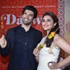 Parineeti Chopra and Aditya Roy Kapoor poses with kebab at the promotion of  Daawat-e-Ishq