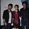 Shraddha Kapoor Shahid Kapoor and Kay Kay Menon poses to media at the Trailer Launch of Haider