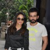 Jay Bhanushali and Surveen Chawla poses to media at the Promotion of Hate Story 2, at Radio Mirchi