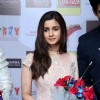 Alia Bhatt felicitated with bouquet at the Promotions of Humpty Sharma Ki Dhulania in Delhi