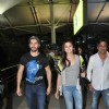 Varun Dhawan and Alia Bhatt poses to media at the Airport