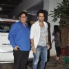 Jackky Bhagnani along with dad Vashu Bhagnani at the Screening of Lai Bhari