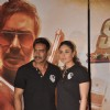 Kareena and Ajay pose at the Singham Trailor Launch