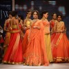 Dia Mirza walks the ramp at the IIJW 2014 - Day 1