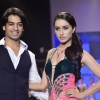 Shraddha Kapoor with a designer at the IIJW 2014 - Day 2