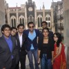 Abhay Deol pose with the students at the Launch of St. Xavier's Fest 'Malhar'