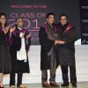 Kamal Hassan and Subhash Ghai poses for camera at Whistling Woods Convocation Ceremony