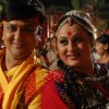 Sannat and Parul playing Dandiya