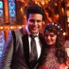 Aashka Goradia pose with Krushna Abhishek at  Entertainment Ke Liye Kuch Bhi Karega