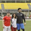Aamir Khan and Abhishek Bachchan at Charity Football Match