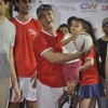 Aamir Khan lifts a kid at Charity Football Match