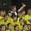 Hrithik Roshan pose with his fans at Charity Football Match